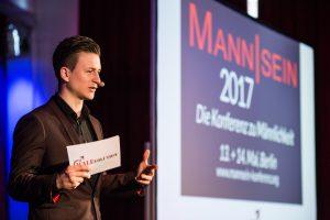 Frank Fiess auf der MANN | SEIN Konferenz 2019 @ Großes Palais, Tegeler Seeterrassen
